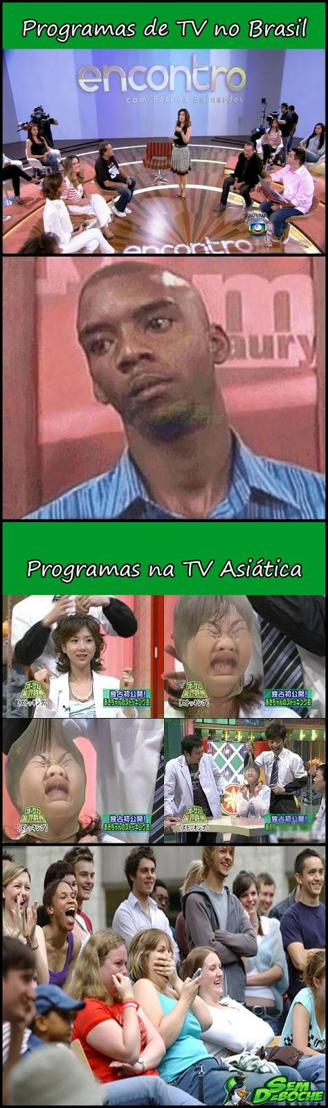 TV BRASILEIRA VS TV ASIÁTICA