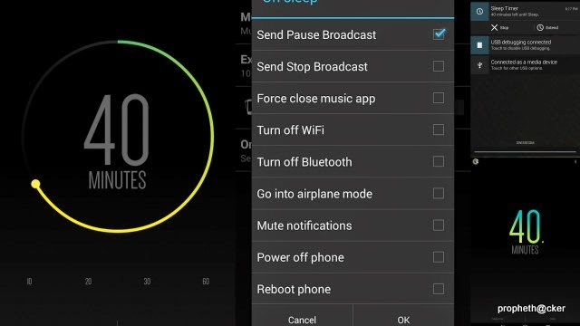 Stop the Music,WiFi and Bluetooth  of Android phone in set Time