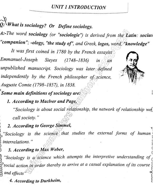 Sociology Study notes for ist semester  credit based system Kashmir University students