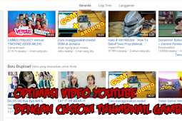 Optimasi Video youtube dengan Custom thumbnail gambar