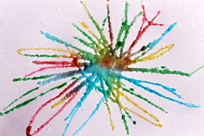 Fireworks art for kids