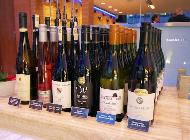 Some of the many New Zealand wines distributed by New Zealand Unlimited