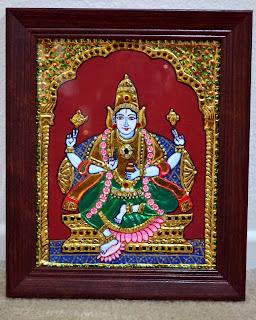Dhanvantari perumal tanjore painting