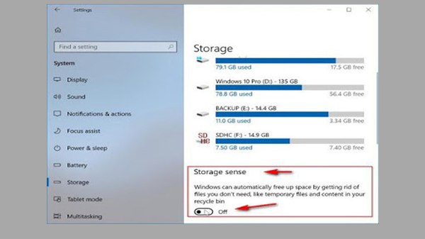 Activated feature in Windows CD 10 delete your files automatically without your knowledge knows how to defuse it