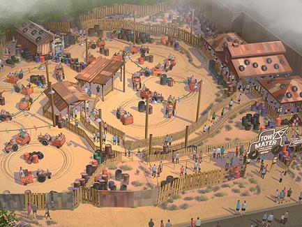 New Cars Land Concept Art Pixar Post