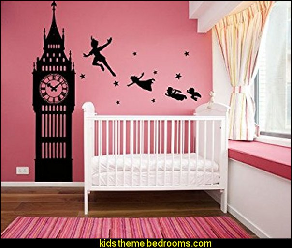 Peter Pan Never Land Kids Children Story wall decal stickers