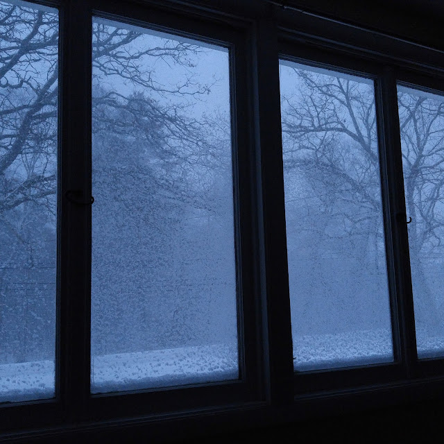 snow out the window
