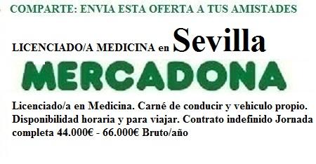 Sevilla, Lanzadera de Empleo Virtual. Oferta Mercadona