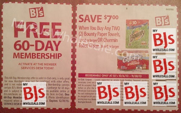 $7/2 Bounty or Charmin Coupon Scenarios at BJs