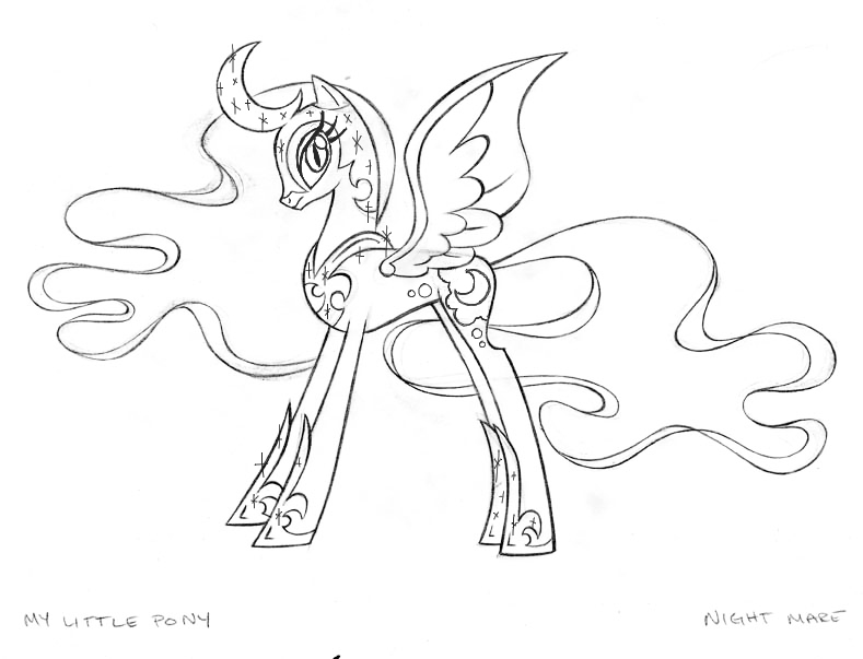 Nightmare Moon Coloring Page Coloring Page