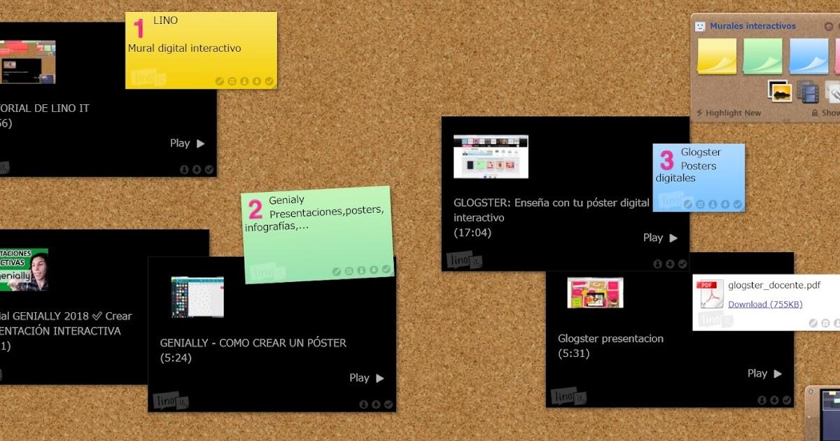 Programas Y Aplicaciones On Line Para El Aula Murales Interactivos