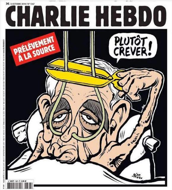 Escándalo por caricatura de Charlie Hebdo de Aznavour
