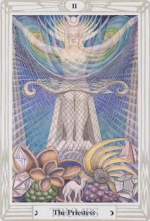 Thoth Tarot Spread: The Priestess II Crowley-Harris Thoth Tarot