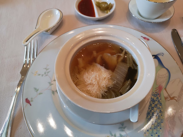Supreme Seafood Broth with Coral Beancurd