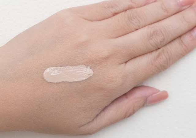 a swatch photo of Palladio Powder Finish Oil-Free Foundation Review by Nikki Tiu of www.askmewhats.com