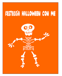 template per realizzare 4 inviti per halloween