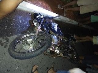 Jovem tem corpo decepado após grave acidente de moto