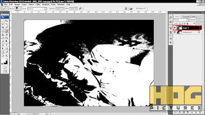 Cara Membuat Foto Hitam Putih dengan Threshold di Photoshop