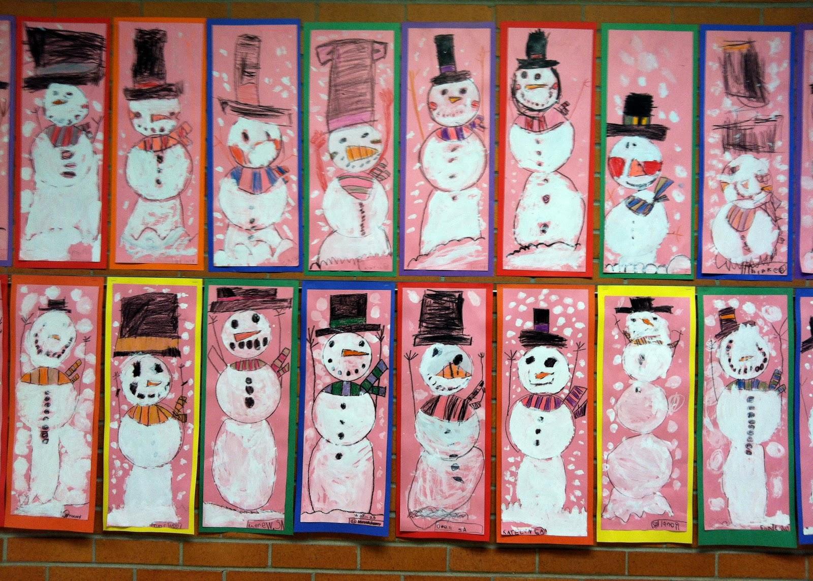 Art With Mrs A Kindergarten Snowmen