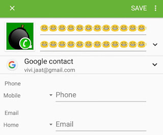 Add smileys in contact name