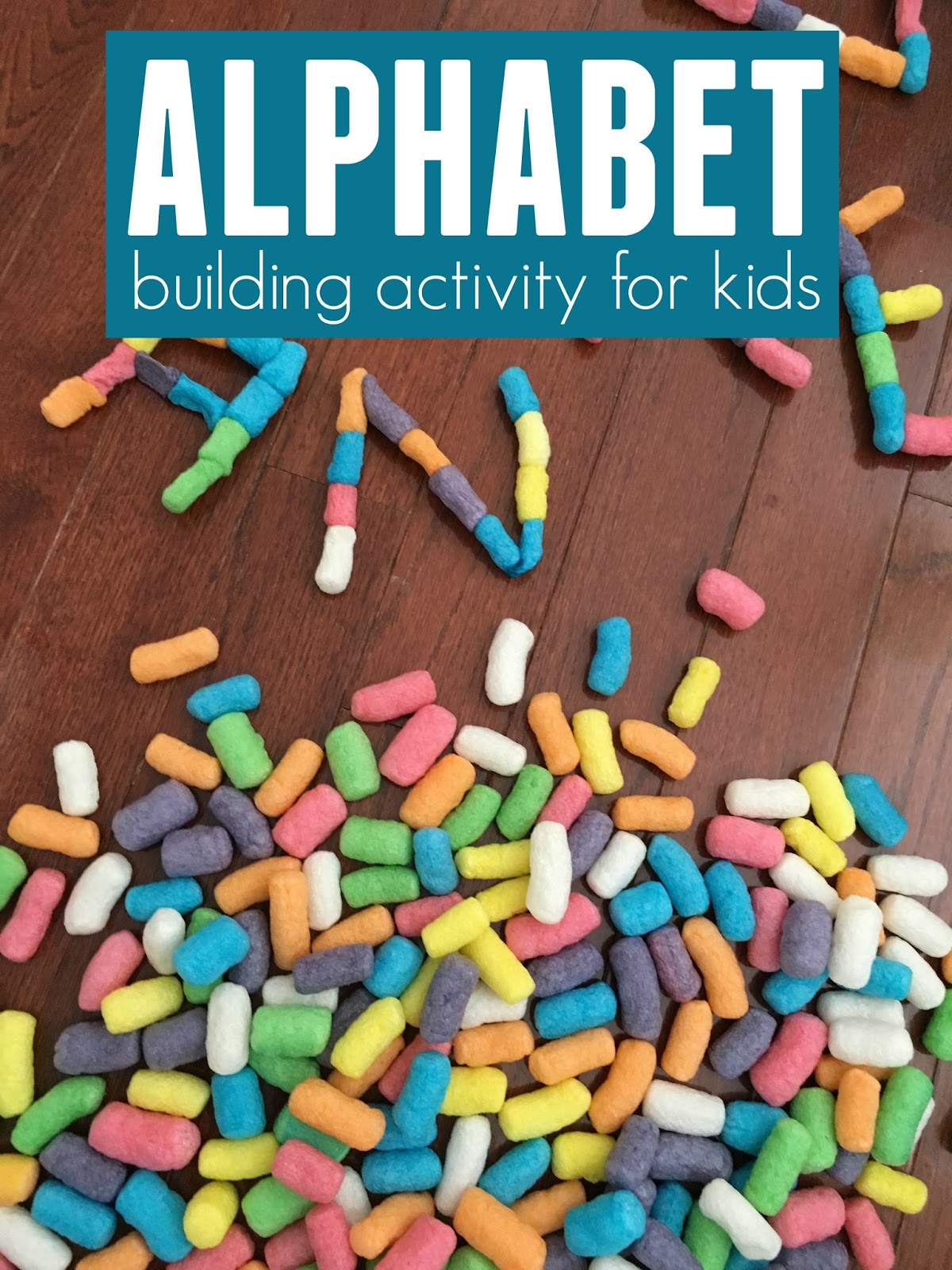 Toddler Approved Alphabet Building Activity For Kids
