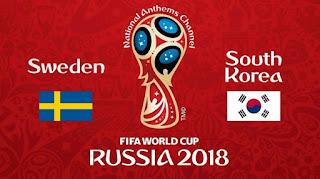 Susunan Pemain Swedia Vs Korea Selatan - Piala Dunia 2018