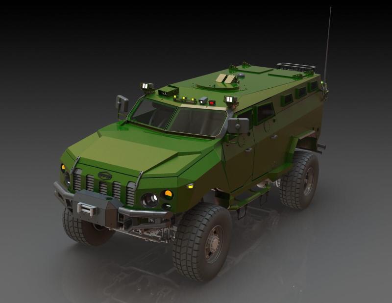Бронеавтомобіль Камрат матиме унікальний рівень захисту