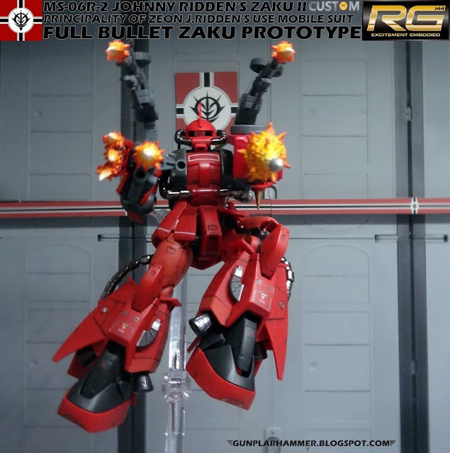 RG Johnny Ridden's Zaku II Custom Full Bullet Zaku Prototype Gundam