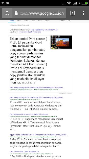 Cara Postingan muncul Tabel di serp google