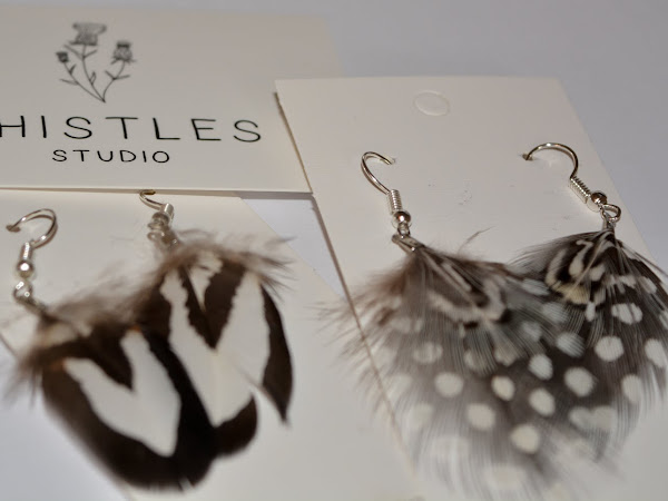 Thistles Studio Feather Earrings & Brooch + Discount Code