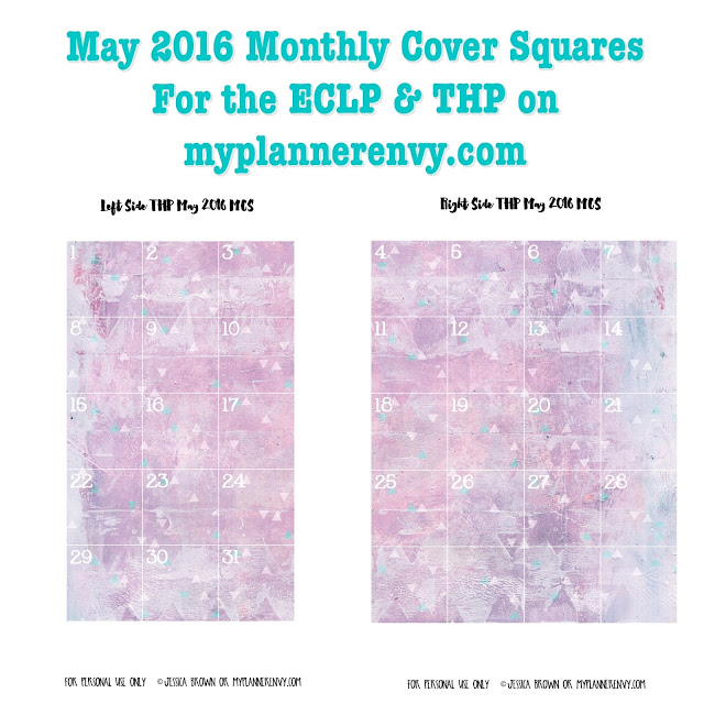 Free Printable May 2016 Monthly Cover Squares for the ECLP & THP on myplannerenvy.com