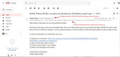 contoh email phishing