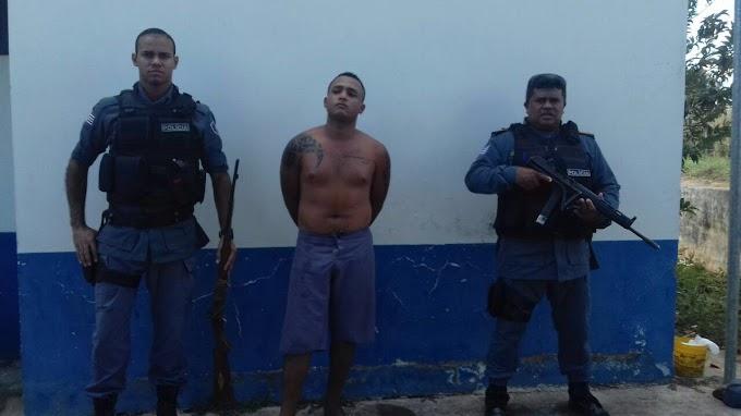 POLICIA MILITAR DETÉM HOMEM POR TENTATIVA DE HOMICÍDIO EM SÃO JOÃO DO SÓTER