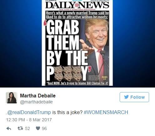 You Wont Believe What Twitter Users Did To Donald Trump When He Twitted About His Respect For Women 9
