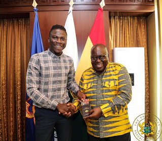 STONEBWOY HAS FINALLY FULFILLED HIS DREAM BY MEETING HIS EXCELLENCY NANA AKUFFO ADDO ( Watch Video)