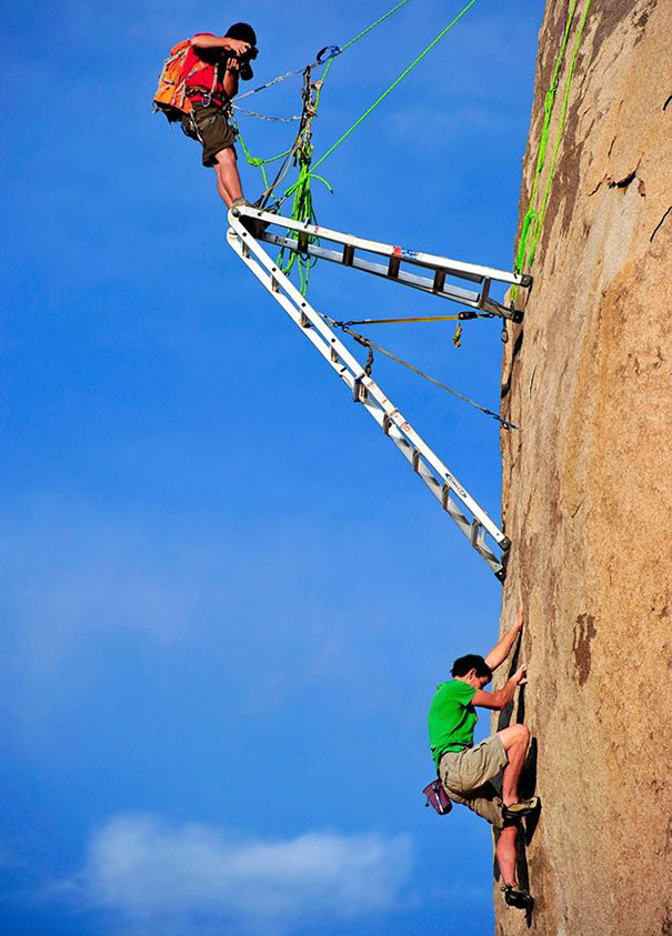 15+ Pics That Show Photography Is The Biggest Lie Ever - Rock Climber