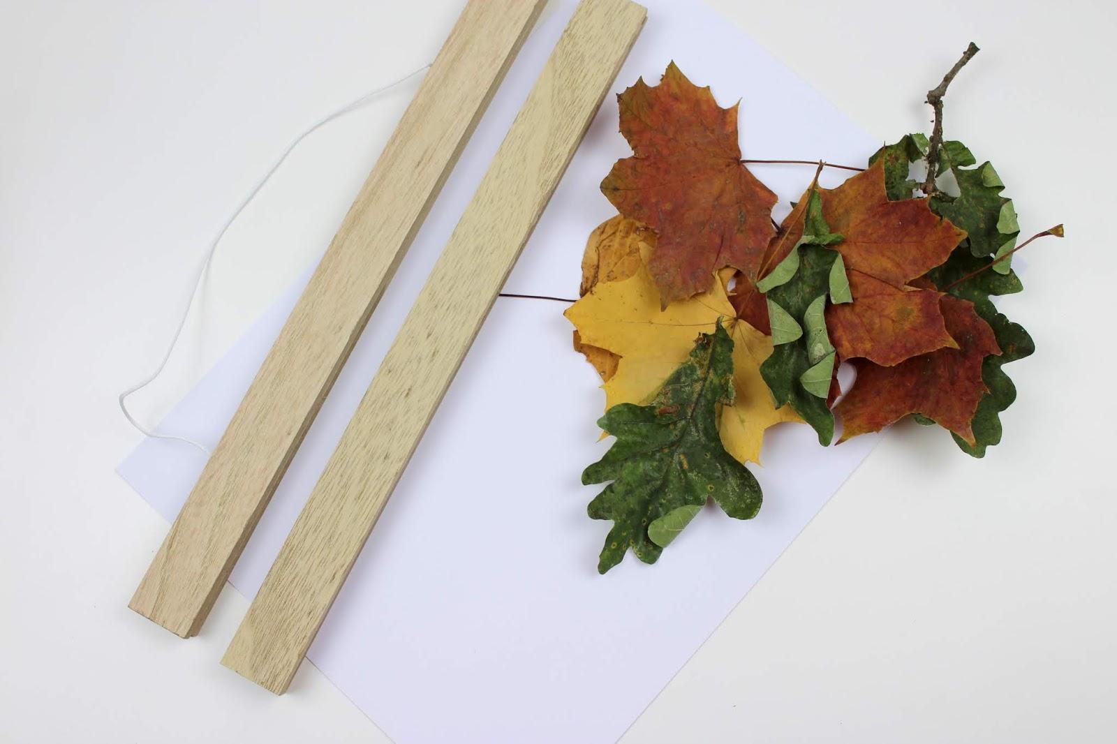 DIY: Herbstbild in einer Posterleiste ganz einfach mit Blättern und einem Scanner selber machen