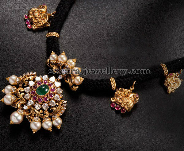 Pachi Design Black Cord Necklace