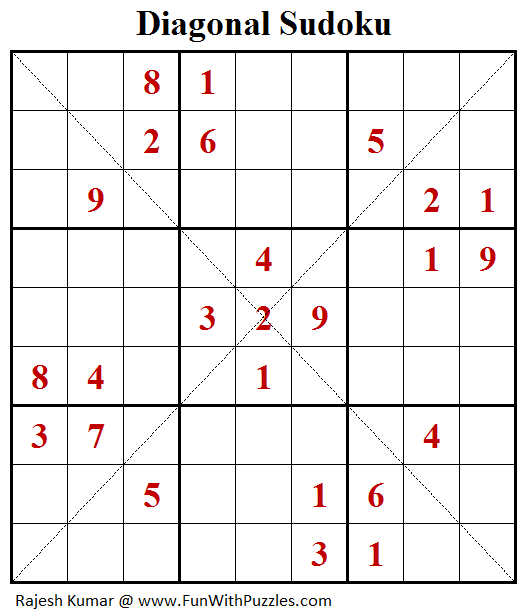 Diagonal Sudoku (Daily Sudoku League #182)-B