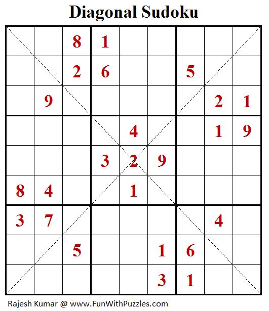 Diagonal Sudoku (Daily Sudoku League #182)-B