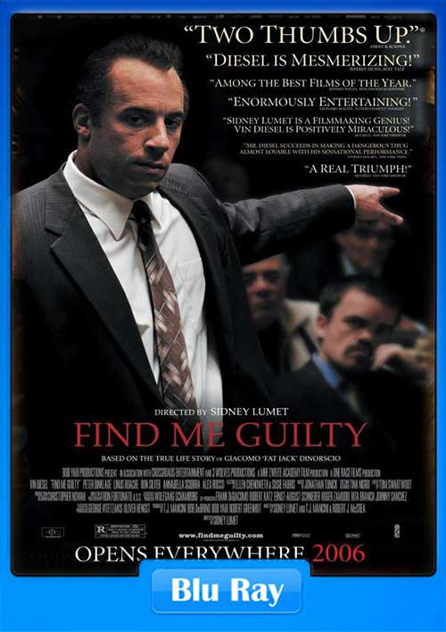 Find Me Guilty 2006 BRRip 480p 400MB x264 Poster