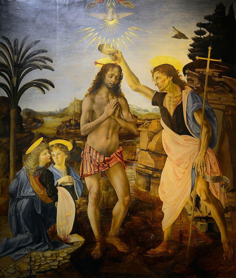 O Batismo de Cristo - Pinturas com temas tirado da bíblia