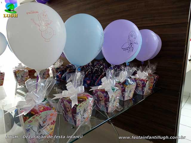 Decoração aniversário Frozen - Enfeites de centro de mesas