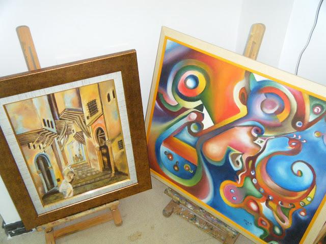 Les peintures de mes élèves à l'expo 25