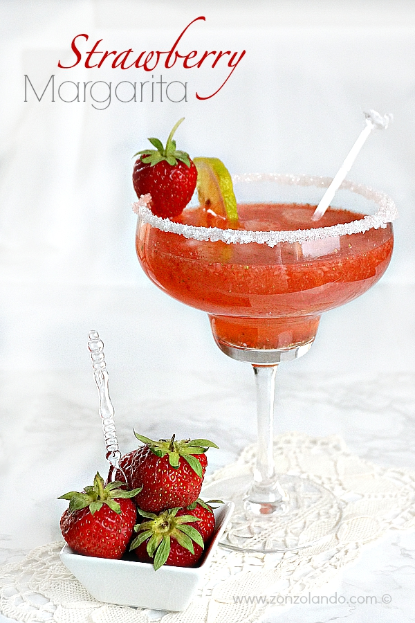 Come preparare un Margarita alla fragola in casa ricetta strawberry margarita