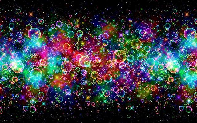 Mooie gekleurde achtergrond met bubbels