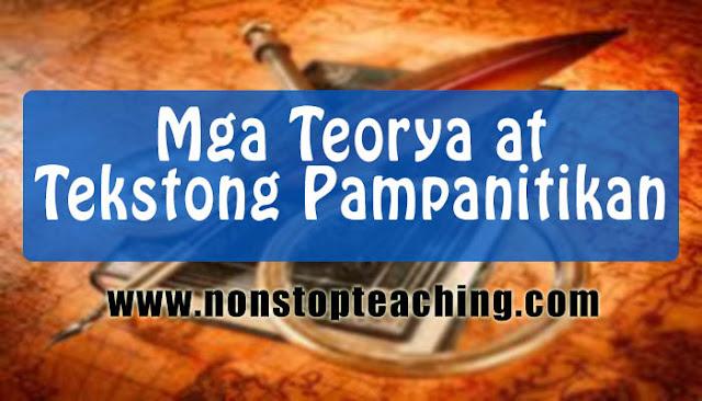 Mga Teoryang at Tekstong Pampanitikan