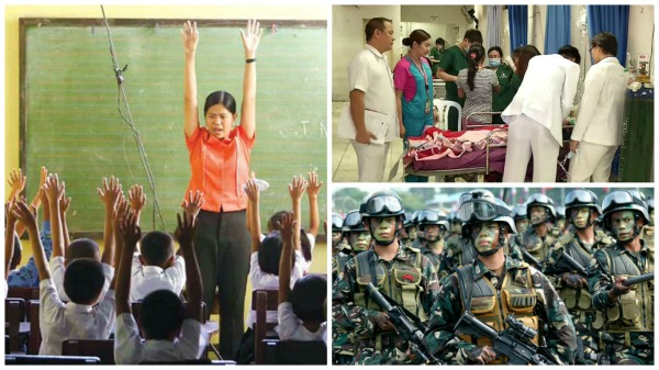 Government to hire 74,000 employees in DepEd, DOH, Army