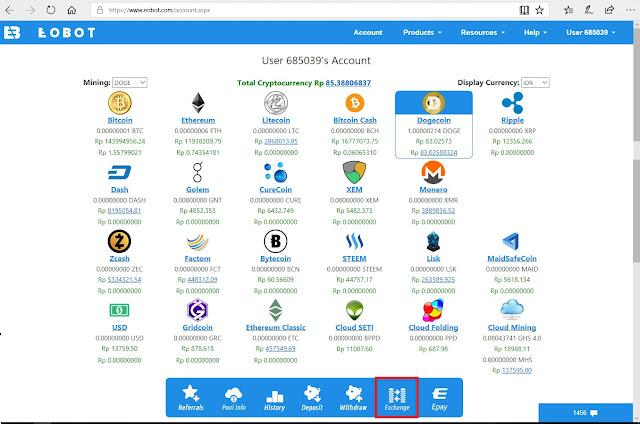 Panduan Pemula bermain cloud Mining di Eobot