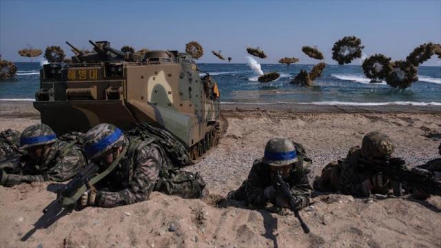 """Pyongyang amenaza con responder a la """"invasión"""" de EEUU-Seúl"""